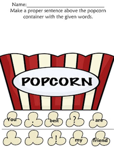 5 Letter Words Popcorn the pre k classroom popcorn letters sight words