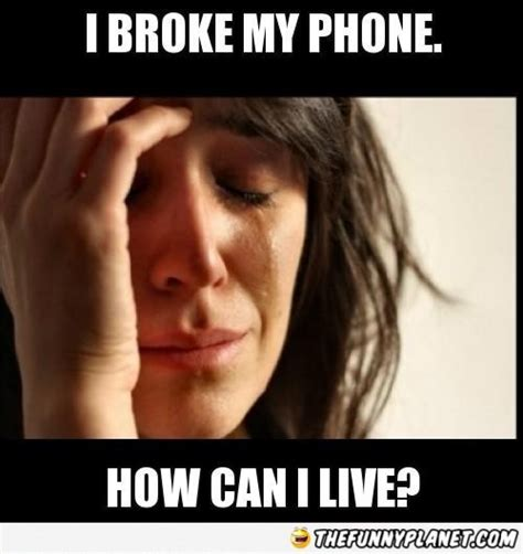 Broken Iphone Meme - i broke my phone thefunnyplanet funny pictures epic