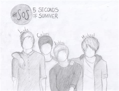 5 Second Sketches by Free Five Seconds Of Summer Coloring Pages