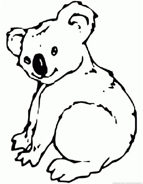 free coloring pages koala free koala outline coloring pages