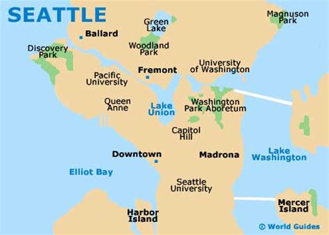 seattle map of usa seattle orientation layout and orientation around seattle