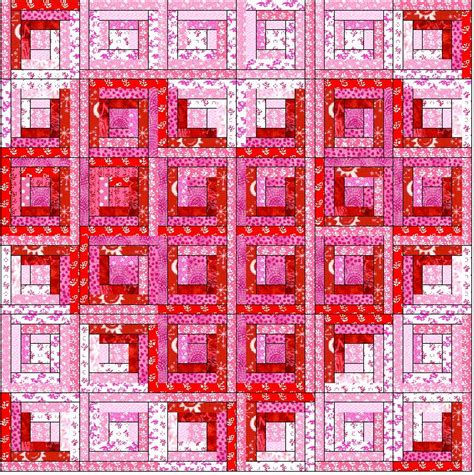 pattern for log cabin heart quilt zany quilter valentine
