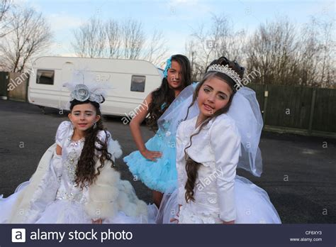 Irish Travellers Girls on a Gypsy site in St Albans