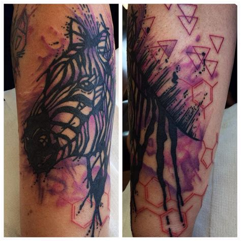 watercolor tattoo zebra abstract watercolor zebra venice designs