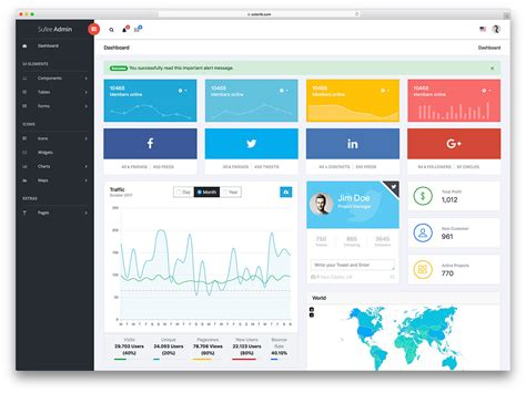 21 Best Free Dashboard Templates For Amazing Admins 2018 Colorlib Simple Dashboard Template