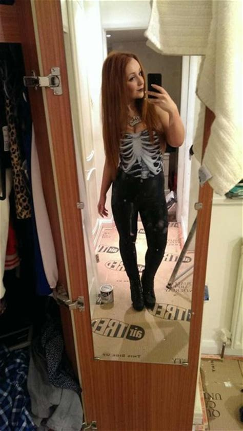 straight hair with outfits shirt skeleton black and white black white dark