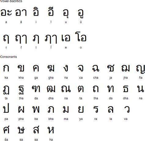 thai alphabet chart thai alphabet for sanskrit 024 pearson