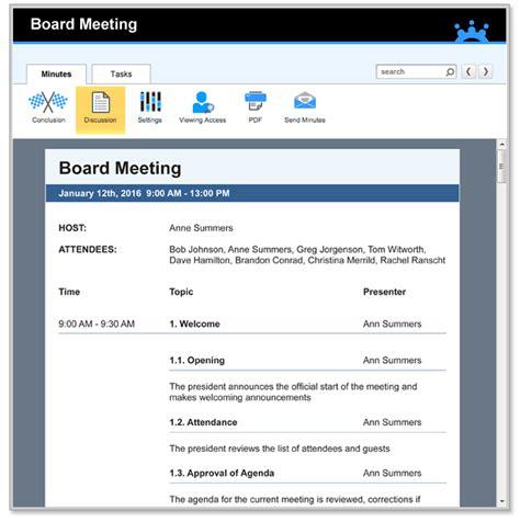 board meeting agenda template agenda
