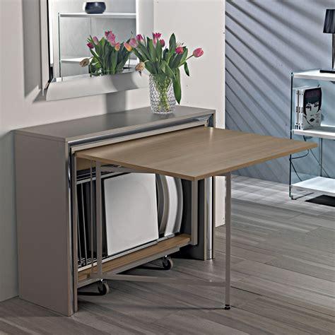 tavolo pieghevole con sedie a scomparsa archimede c consolle con tavolo pieghevole 170 x 90 cm