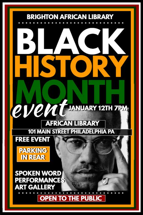 New Poster Templates For Black History Month Design Studio Black History Month Poster Template
