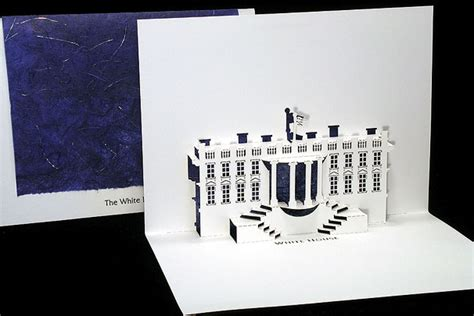 Free Template Of White House Pop Up Card by White House Origami Architecture Pop Up Cards By Live