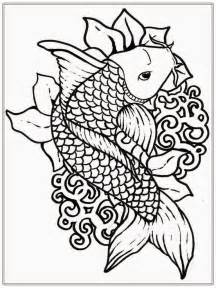 coloring templates for adults koi fish coloring pages coloring home