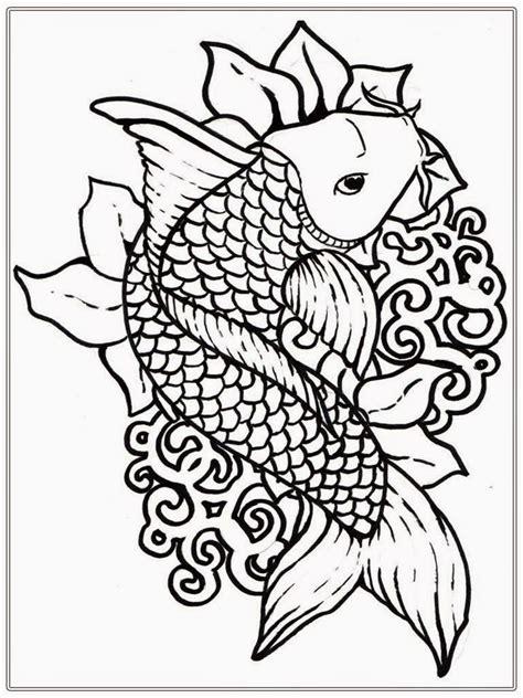 koi fish coloring pages    print
