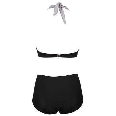 Pakaian Renang Wanita Baju Renang Wanita High Waist Swimsuits Size L