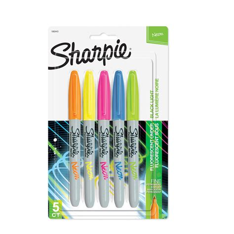 colored permanent markers sharpie 1860443 neon permanent markers