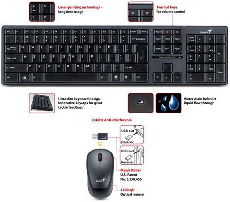 Keyboard Mouse Wireless Genius genius slimstar 8000 wireless keyboard and mouse combo