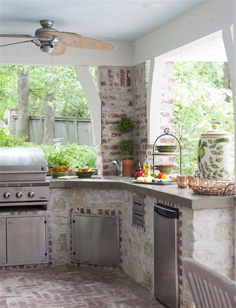Outside Kitchen Ideas 56 Cool Outdoor Kitchen Designs Digsdigs