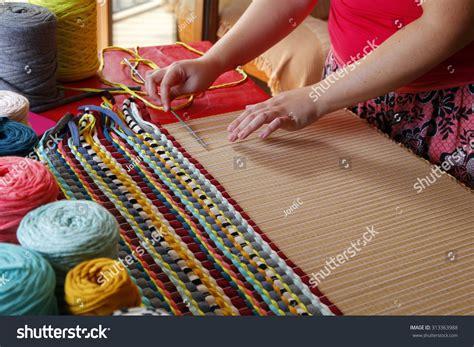 Handmade Carpet - weaving handmade carpet stock photo 313363988