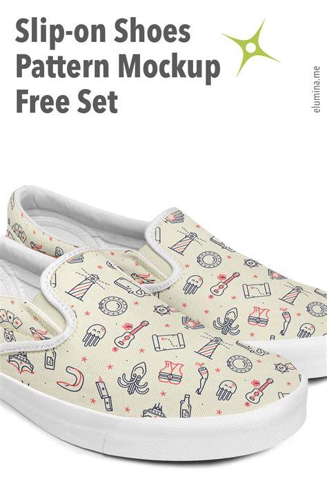 Slip On Shoes Pattern Mockup Free Set Freebies Elumina