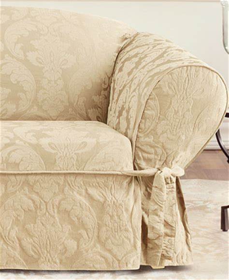 matelasse slipcover sure fit matelasse damask 1 piece loveseat slipcover