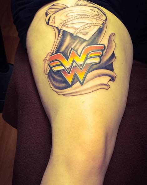 wonder woman wrist tattoo superman via girlonfire84