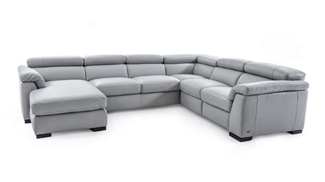 natuzzi leather power reclining sectional natuzzi editions b634 contemporary leather sectional sofa