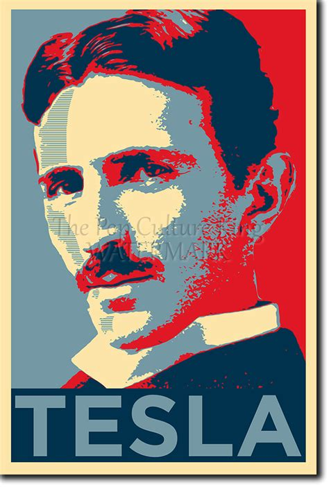 Nikola Tesla Poster Nikola Tesla Poster Unique Photo Print Gift Ebay