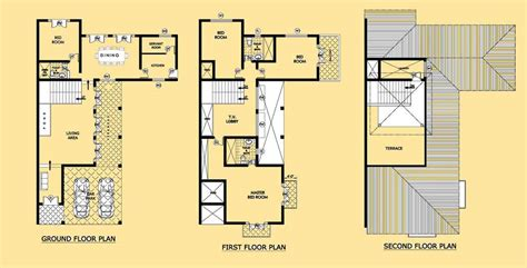 2 Story Townhouse Floor Plans three story home plans 3 story houses at eplanscom urban