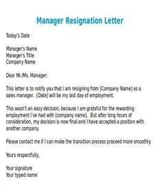 Sle Executive Resignation Letters by Resignation Letter Format