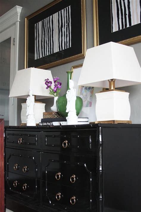 Dresser Dining Room Black Bamboo Dresser Eclectic Dining Room Sherwin