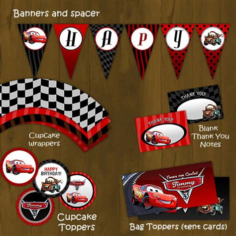 cars birthday banner template disney cars printable birthday package lightning