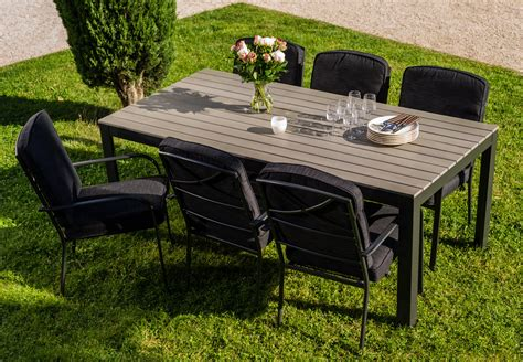 table jardin salon de jardin table montecarlo 2m 6 fauteuils tunis gris oogarden