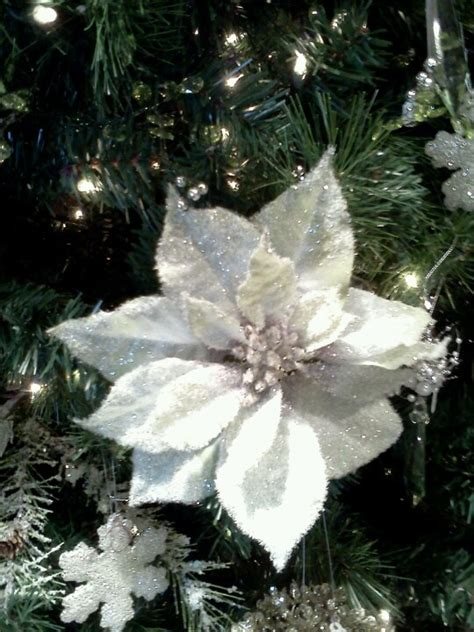 white poinsettia christmas decorations christmas decore