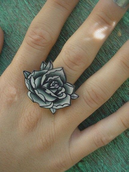rose band tattoo 39 best black ring tattoos images on ink ring