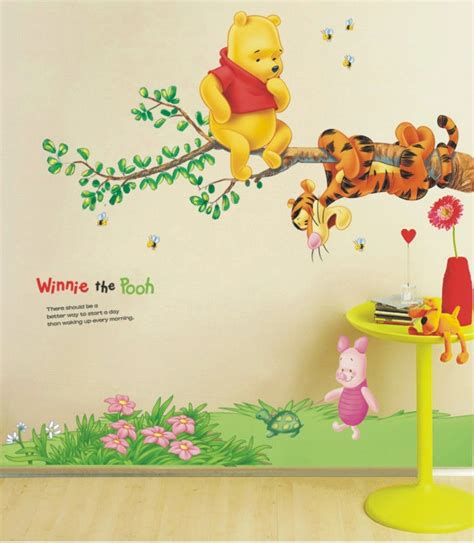 Winnie The Pooh Nursery Wall Decals Winnie The Pooh Tree Branch Large Nursery Wall Sticker Decoration Wall Well And Truly