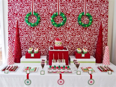 christmas party dessert table xmasblor