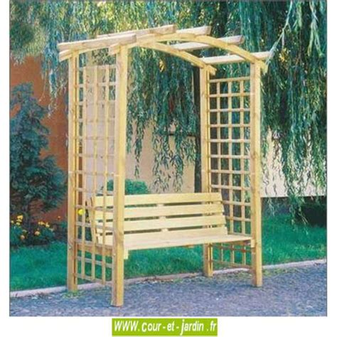 pergola avec banc de jardin pergola de jardin arcade en bois avec banc