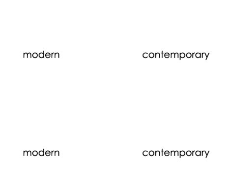 what is the difference between modern and contemporary modern vs contemporary what s the difference the primary line