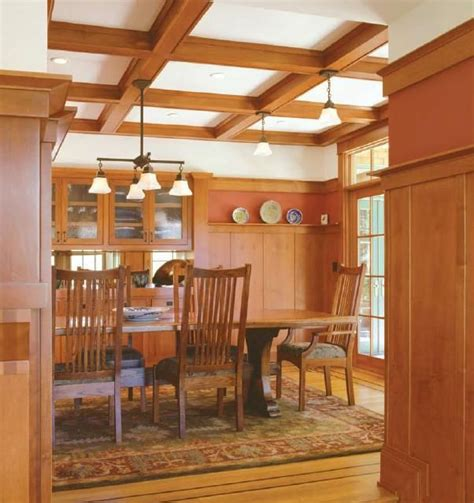 craftsman style coffered ceiling google search