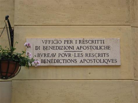 ufficio pergamene della elemosineria apostolica modalit 224 necessarie per ottenere la benedizione apostolica