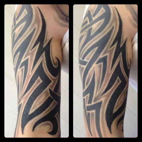 inner bicep tribal tattoos tribal extension on inner arm by danie doolally