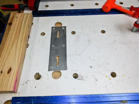bench dog holes work bench dog hole template router forums