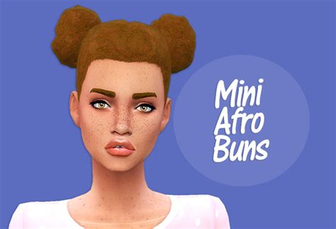 sims 4 cc afro my sims 4 blog mini afro buns hair for females by