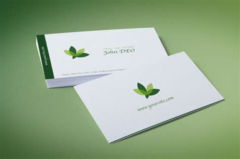 organic green business card business card templates on