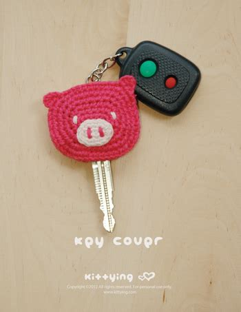 pattern crochet key cover crochet pattern piggy key cover pig applique pig head