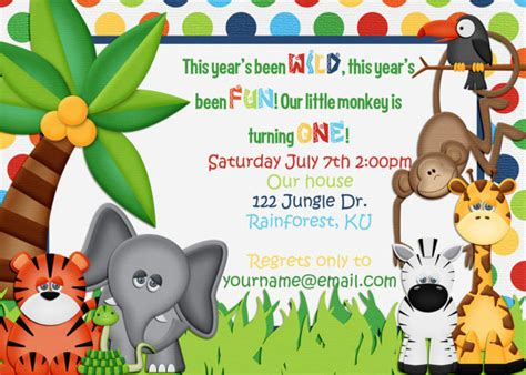 free printable birthday invitations jungle theme jungle themed birthday invitation by amandacreation on