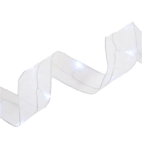 battery operated white lights battery operated led organza ribbon lights white 9ft