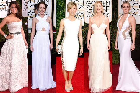 White At The Golden Globes by Golden Globe Awards White Dresses With Lots