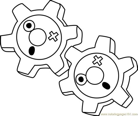 Klink Pokemon Coloring Pages | klink pokemon coloring page free pok 233 mon coloring pages