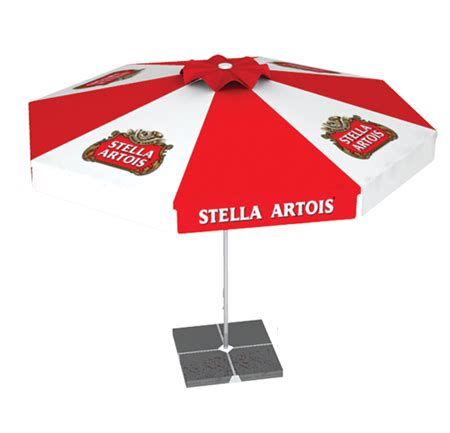 Logo Patio Umbrellas Stella Artois Logo Umbrella